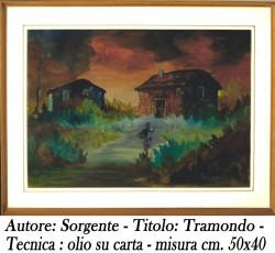 Sorgente , Tramondo, olio su tela, 50x40 - A A 4 - 1