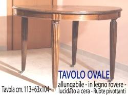 mobili antichi 042 TAVOLO OVALE copia