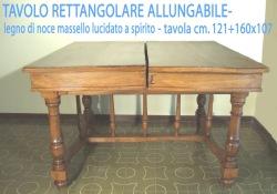 tavolo rettangolare - allungabile - Copia copia